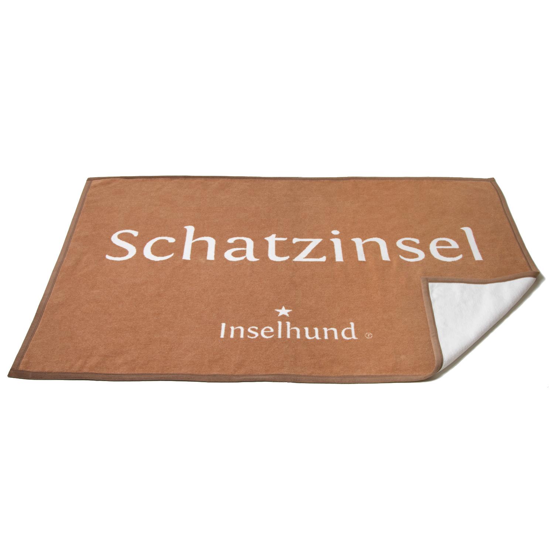Kuscheldecke braun/weiss