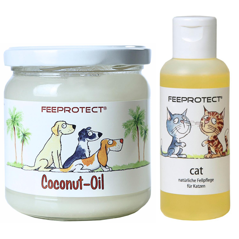 Kombipack: Feeprotect ® Coconut-Oil und cat Fellpflege