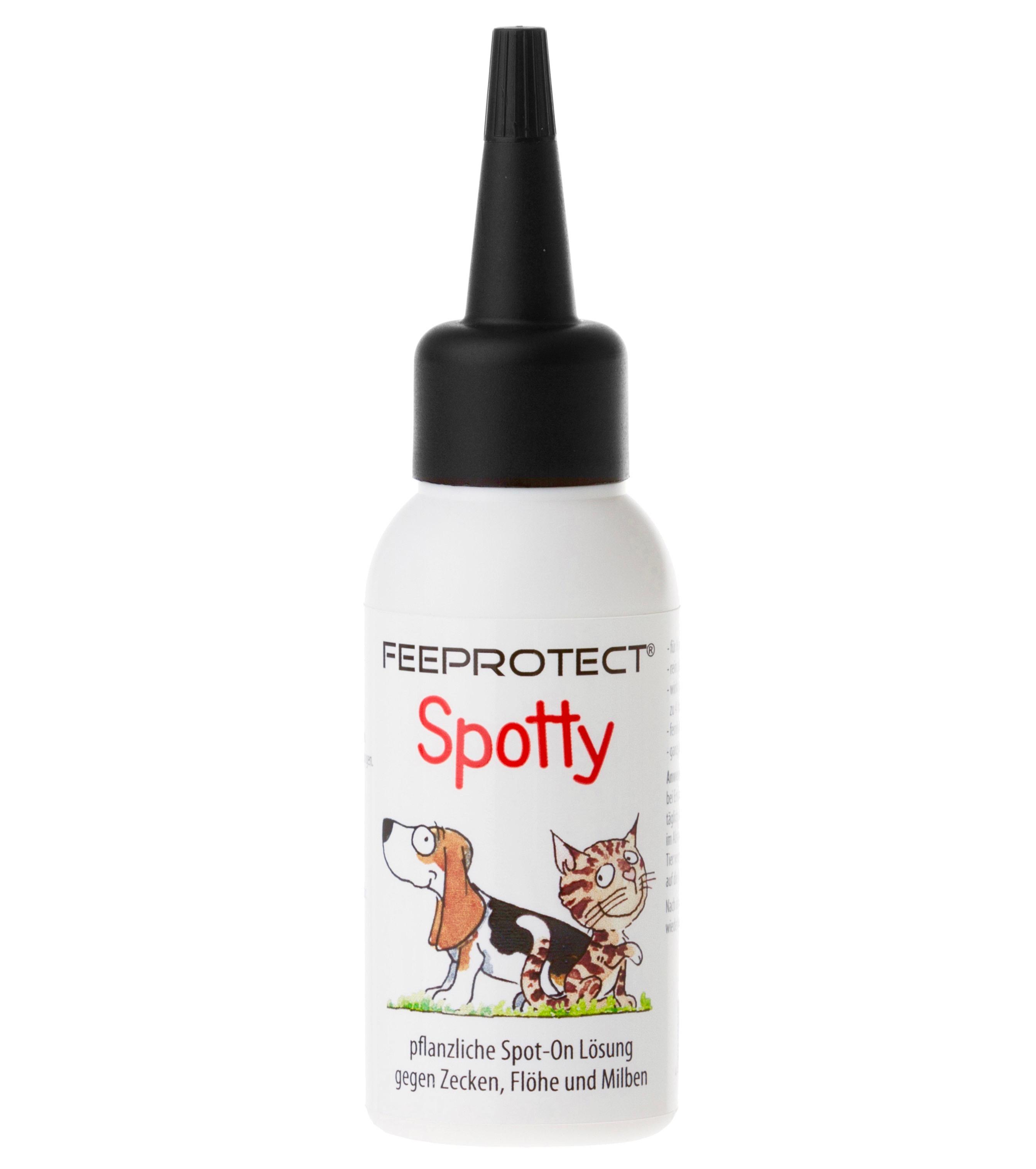 Feeprotect Spotty gegen Zecken und Feeprotect dog plus Fellpflege