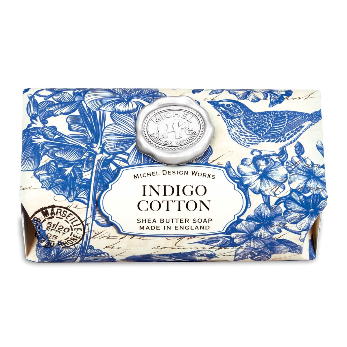 Indigo Cotton Seifenstück