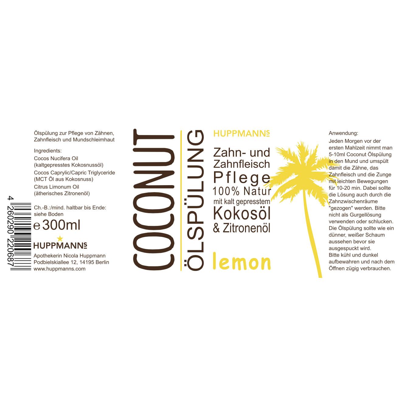 Huppmanns Coconut Ölspülung lemon