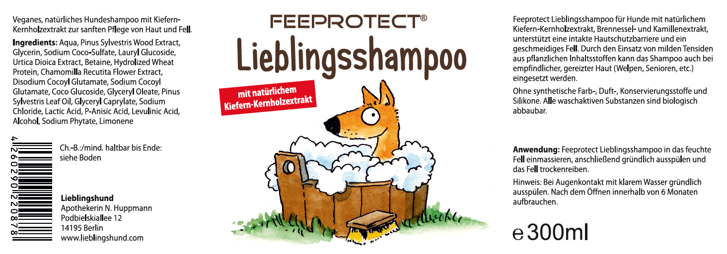 Feeprotect Lieblingsshampoo für Hunde
