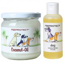 Kombipack: Feeprotect ® Coconut-Oil und dog Fellpflege