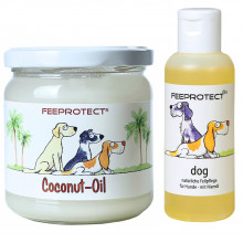 Kombipack: Feeprotect ® Coconut-Oil und dog plus Fellpflege