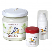 Kombi: Feeprotect ® Coconut-Oil, Pfotenzauber-Elixier+Salbe